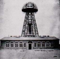 A 1901 photograph of Tesla's Tower